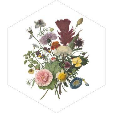 selbsklebende Wandtattoo Blumenstrauß Grün, Rosa und Gelb von ESTA home