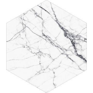 selbsklebende Wandtattoo Marmor-Optik Schwarz-Weiß von ESTA home