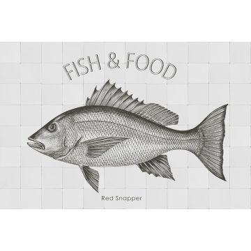 selbsklebende Wandtattoo Fisch Schwarz von ESTA home
