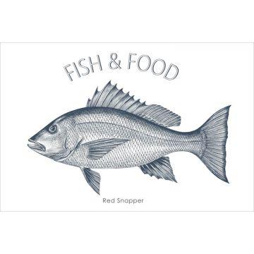 selbsklebende Wandtattoo Fisch Blau von ESTA home