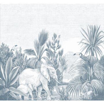 Fototapete Dschungelmuster Blau von ESTA home