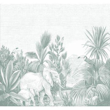 Fototapete Dschungelmuster Grün von ESTA home