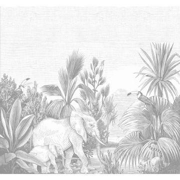 Fototapete Dschungelmuster Grau von ESTA home