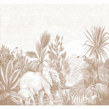 Fototapete Dschungelmuster Terracotta von ESTA home