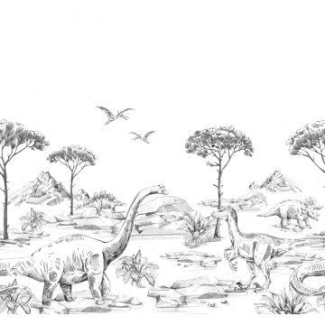 Fototapete Dinosaurier Schwarz-Weiß von ESTA home