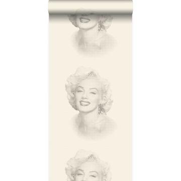 Tapete Marilyn Monroe Weiß und Grau von Origin