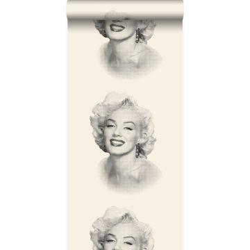 Tapete Marilyn Monroe Weiß und Schwarz von Origin