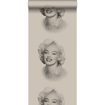 Tapete Marilyn Monroe Grau und Schwarz von Origin