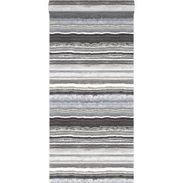 Tapete Marmor-Optik Schwarz und Weiß von Origin