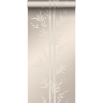 Tapete Bambusmuster Silber von Origin