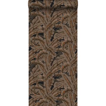 Tapete Palmblätter Rostbraun von Origin