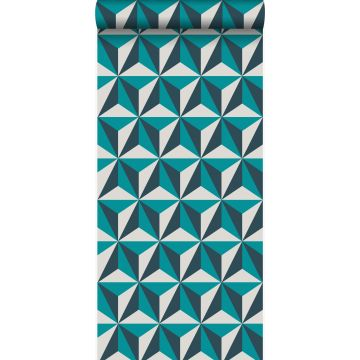 Tapete 3D-Muster Türkis von Origin