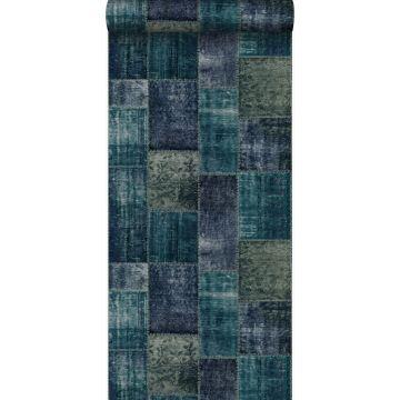Tapete Kelim-Patchwork Smaragdgrün von Origin