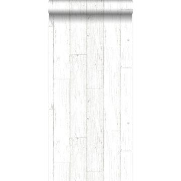 Tapete Holz-optik Elfenbeinweiß von Origin