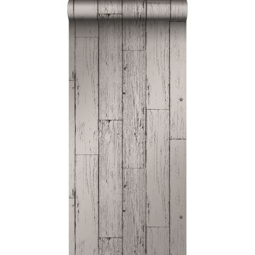 Tapete Holz-optik Dunkelgrau von Origin