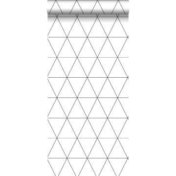 Tapete grafische Dreiecke Schwarz-Weiß von Origin
