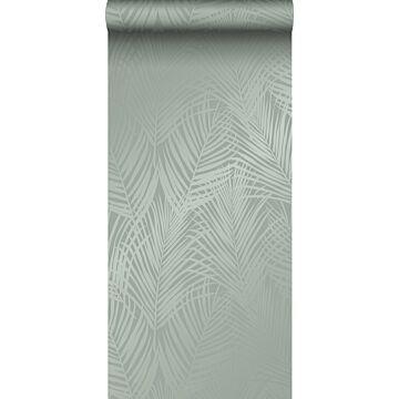 Tapete Palmenblätter Graugrün von Origin