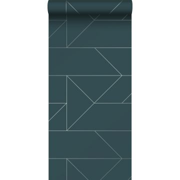 Tapete grafischen Linien Dunkelblau von Origin