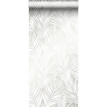 Tapete Palmenblätter Weiß von Origin