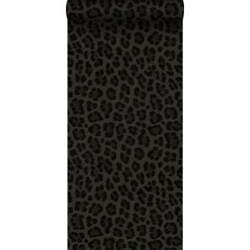 Tapete Leopardenmuster Dunkelgrau und Schwarz von Origin
