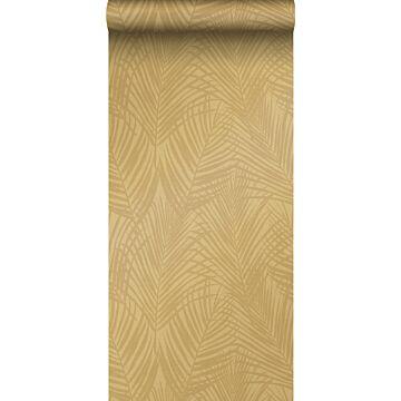 Tapete Palmblätter Ockergelb von Origin