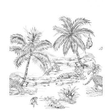 Fototapete Safari-Muster Schwarz-Weiß von Origin