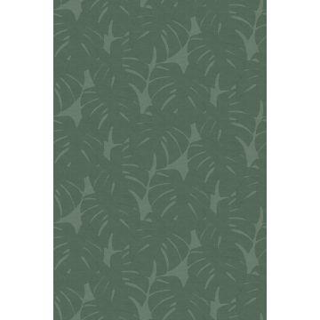Fototapete Blätter in Leinen-Optik Grün von Origin