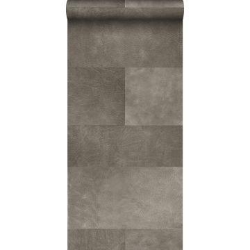 XXLVliestapete Fliesenmuster mit Lederoptik Grau von Origin