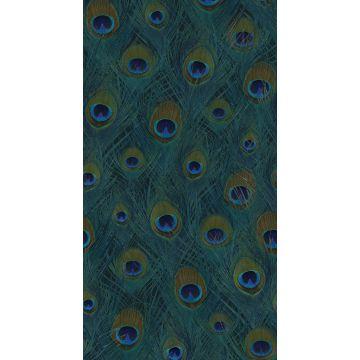 Fototapete Pfauenfedern Meeresgrün von Origin
