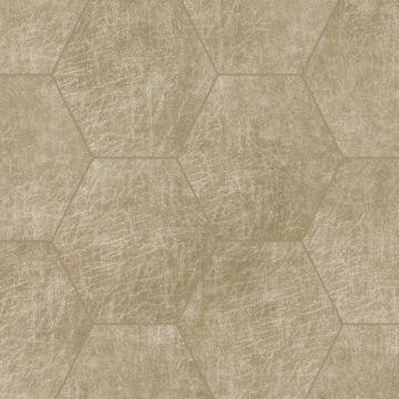 selbstklebende Öko-Leder Wandfliesen Sechseck Sand Beige von Origin