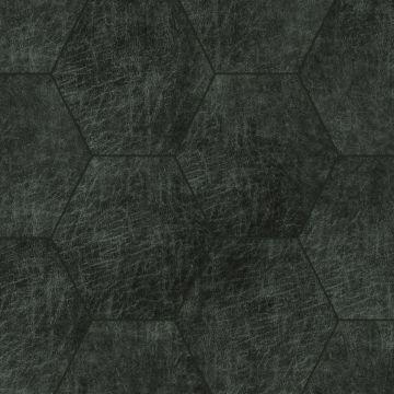 selbstklebende Öko-Leder Wandfliesen Sechseck Antrazitgrau von Origin