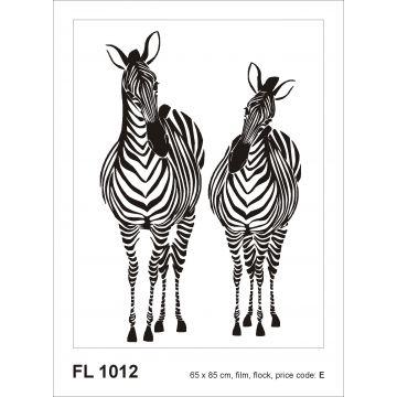 selbsklebende Wandtattoo Zebras Schwarz-Weiß von Sanders & Sanders