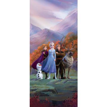 Poster Die Eiskönigin Lila, Blau und Orange von Sanders & Sanders