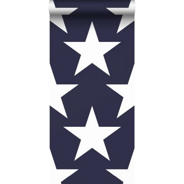 Tapete Sterne Marineblau von Sanders & Sanders